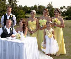 Yellow Strapless Long Bridesmaid Dresses