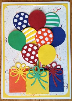 Another birthday card using the Balloon Adventures stamps set and Balloon Pop-up - Kartenideen Kinder - Simple Birthday Cards, Homemade Birthday Cards, Kids Birthday Cards, Homemade Cards, Diy Birthday, Balloon Birthday, Birthday Quotes, Funny Birthday, Birthday Cards To Make