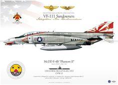 "McDonnell Douglas F-4B Phantom II VF-111 ""Sundowners"", CVW-15,"