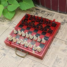 (32.56$)  Know more - http://aiqtj.worlditems.win/all/product.php?id=32691678530 - Professional International Chess Game Version Wooden Chess Classic Standard Folding Educational Antique terracotta chess pawn