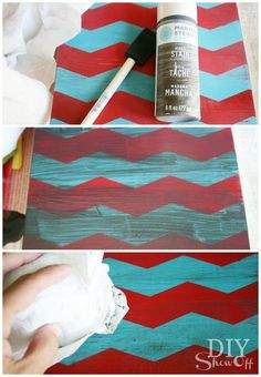 Steps to paint and make distressed look on wood