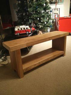 Handmade TV stand. Made from oak. www.madebygav.co.uk