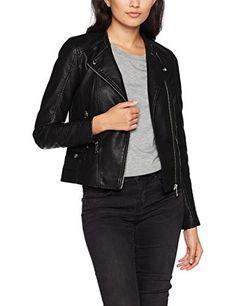 Chaqueta de cuero negra  chaquetasdecuero  chaquetasmujer  cuero  moda   mujer  cazadoras 029c82ef8ea7