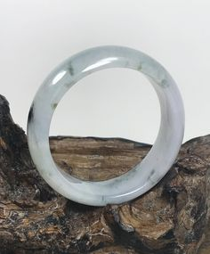 Excited to share this item from my #etsy shop: 56.8mm Icy Lavender with Milky White and Spinach Green Untreated Burmese Grade A Jadeite Jade Bangle/Icy Jade/Jade Bracelet/ MOJ0124 Jade Bracelet, Stone Bracelet, Bangles, Bangle Bracelets, Artisan Jewelry, Handmade Jewelry, Chakra Jewelry, Jade Ring, Jade Jewelry