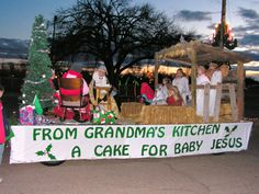 Picture Christmas Parade Float | parade float