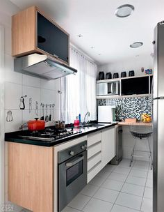 Small Kitchens Design Ideas, Kitchen for Small Spaces, Efficient Small Kitchens, Cozinhas Pequenas, Cozinhas Planejadas Kitchen Interior, Kitchen Inspirations, Kitchen Design Small, Small Kitchen, Kitchen Decor, Kitchen Ideals, Mini Kitchen, Kitchen Dining Room, Kitchen Dining