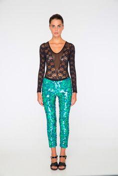 2014 | KALEIDOSCOPE Collection | INDUS Sequin Leggings | sea green | Rosa Bloom