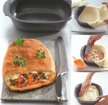 Pizza Calzone. Tupperware recept met ultrapro.