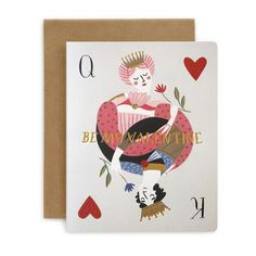 Be My Valentine - King and Queen of Hearts card for your boyfriend or girlfriend to say I love you - Bespoke Letterpress - @bespokepress #stationeryaddict #giftideas #giftwrap