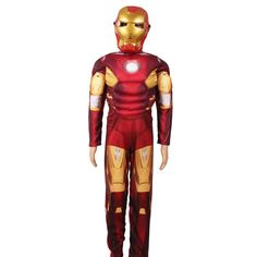 Mini Ironman Iron Man Child youth Costume Halloween party cosplay Mark 42 Starks with Mask