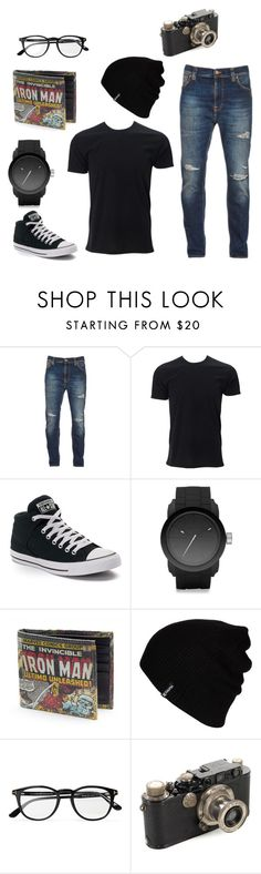 """Dark Hipster"" by livi-under-the-galaxies on Polyvore featuring Nudie Jeans Co., Converse, Diesel, Hurley, Tom Ford, Leica, men's fashion and menswear"