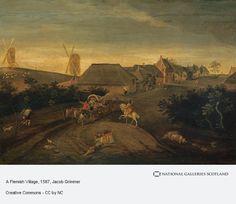 A Flemish Village (About 1587)