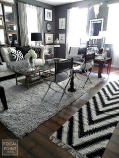 Black & White Living Room ReStyle - Lynda Quintero-Davids - Focal Point Styling