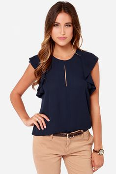 Flutter Sleeve Top #featuredpin