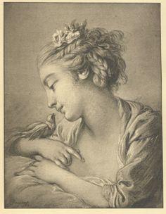 La Jeune Fille à la Colombe de François Boucher