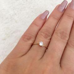 """2fa4e818bca D Luxo Joalheria® on Instagram  """"A delicadeza do anel solitário!"""