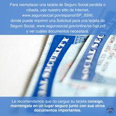 Para reemplazar una tarjeta de Seguro Social perdida o robada,  visite http://www.segurosocial.gov/espanol/SP_SSN/, y vea cuáles documentos necesitará.