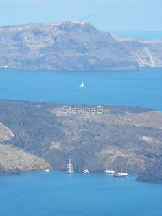 Santorini ocean: Greek Islands Magic. The Greeks have islands and lot of body of water.