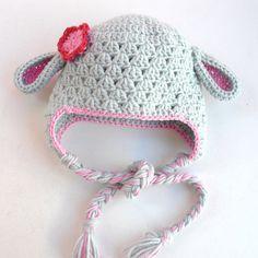 Animal Hat   lamb  Hat  Crochet Baby Hat  Crochet animal by Ebruk