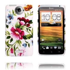 Valentine (Två Rosa Blommor) HTC One X-Skal