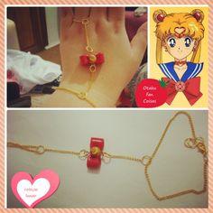 ~ Coleção Lunar ~ <br> <br>Pulseira de Mão da Sailor Moon. Apenas 1 unidade disponível!!