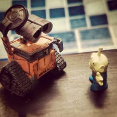 Clash of two #pixar universe. #walle #toy #toyphotography #miniatures