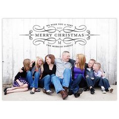 Love the simplicity of this, great pose for a large family