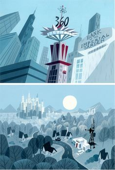 Powerpuff Girls environments - Lou Romano