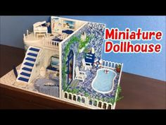 DIY Miniature Kitchen Cabinets   How to make Kitchen cabinets for your Dollhouse - YouTube