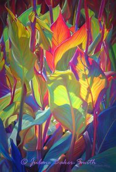Tango Art Print of Tropical Plants by ArtByJulene