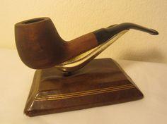Vintage Half Bent Squat Billiard Style Estate Briar Tobacco Smoking Pipe NICE