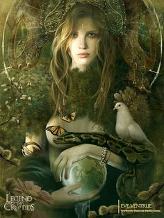 Gaea (Earth) The personification of earth, and the goddess of the earth. Gaea, also known as Gaia or Ge, but to the Romans, she was known as Terra Mater and Tellus.