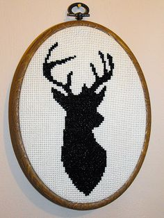 Free deer cross stitch pattern | Flickr - Photo Sharing!