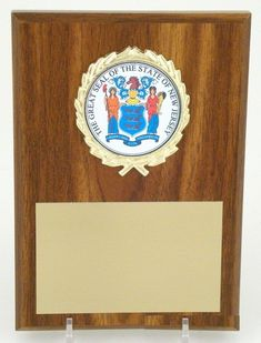 The Great Seal of New Jersey 4x6 Plaque