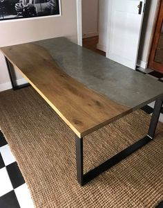Attrayant Faux Concrete Table Top On A Steel Base | Mike Made This | Pinterest | Concrete  Table Top, Concrete Table And Bespoke Furniture.