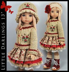 Beige-Burgundy-Outfit-for-Little-Darlings-Effner-13-by-Maggie-Kate-Create. Ends 9/8/14. SOld for $139.10