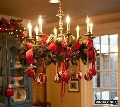 Awesome ornamented christmas chandeliers for unforgettable family christmas ready chandelier christmas decorations aloadofball Gallery