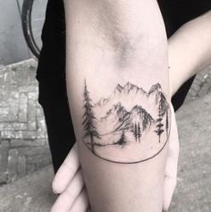 # wonderful tattoo - - # wonderful tattoo – You are in the right place about # wonderful tattoo – Ta - Tattoo Girls, Girl Tattoos, Tatoos, Neue Tattoos, Body Art Tattoos, Lake Tattoo, Tattoos Geometric, Forest Tattoos, Landscape Tattoo