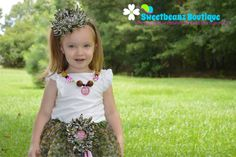 """""""Ribbons, & Bows, & Camo Clothes, That's What Little Girls Are Made Of!""""  Camo Tutu, Headband, and Chunky Beaded Necklace by SweetbeanzBoutique on Etsy"""