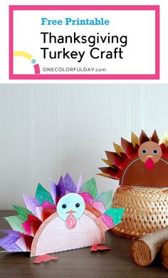 A last minute Thanksgiving turkey craft. There is a lot of coloring, cutting, folding! Easy and fun craft to keep the children engaged. Thanksgiving Crafts, Fall Crafts, Crafts To Make, Crafts For Kids, Easy Origami For Kids, Origami Easy, Hedgehog Craft, Turkey Feathers, Turkey Craft