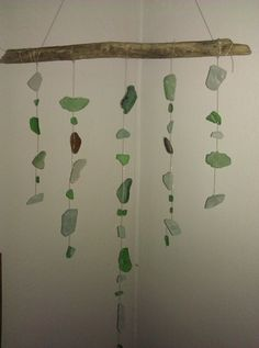 Sea glass mobile made by me!