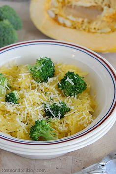 Broccoli and Spaghetti Squash with Lemon Pepper