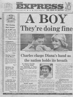 Diana newspaper article