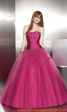 Beaded Tulle Ball Gown by Modest Online Inexpensive Designer 8774