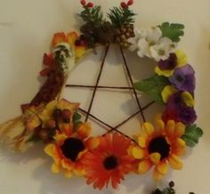 6inch Altar size Wheel of the Year Wreath  www.facebook.com/sosannascloset