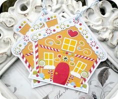 NEW  Gingerbread House Christmas Tags  Set by LittlePaperFarmhouse, $6.50
