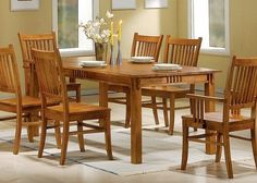 Coaster 100621 Mission Style Dining Table - http://www.furniturendecor.com/coaster-100621-mission-style-dining-table-burnished-oak-solid/ - Dining Room Furniture, Dining Room Sets, Dining Tables, Furniture, Home and Kitchen