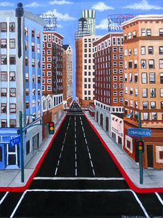 """5th and Los Angeles"" by Darlene D. at the Lamp Art Project"