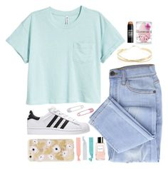 """""""T shirt contest"""" by emily-2024099 ❤ liked on Polyvore featuring Marc Jacobs, Lana Jewelry, Accessorize, beautyblender and NYX"""