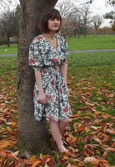 Vintage 90's Reworked Floral Shirred Waist Smock Dress £18 http://asos.mp/bristol-saint-vintage